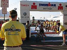 Ironman Triathlon bike start