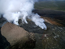 Hawaii Volcanoes National Park, view from helicopter