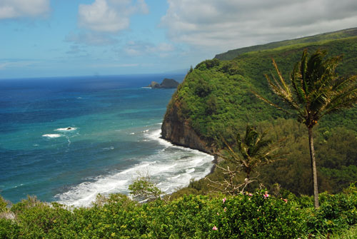View from the Pololu Valley Lookout