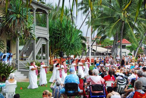 Hula at Hulihee Palace in Kailua Kona.