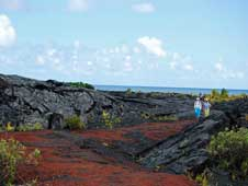 Red lava path to the ocean