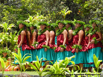 Hula dance in Hawaii Volcanoes National Park