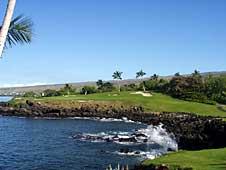 Big Island, Kohala Coast, Mauna Kea, golf course