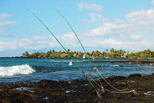 Shore fishing on the Big Island | Aloha Vacation Cottages